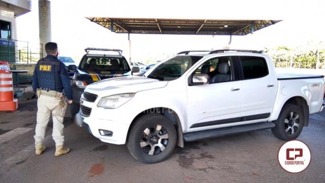 PRF recupera caminhonete cerca de 10 minutos após ter sido roubada na cidade de Cruzeiro do Oeste