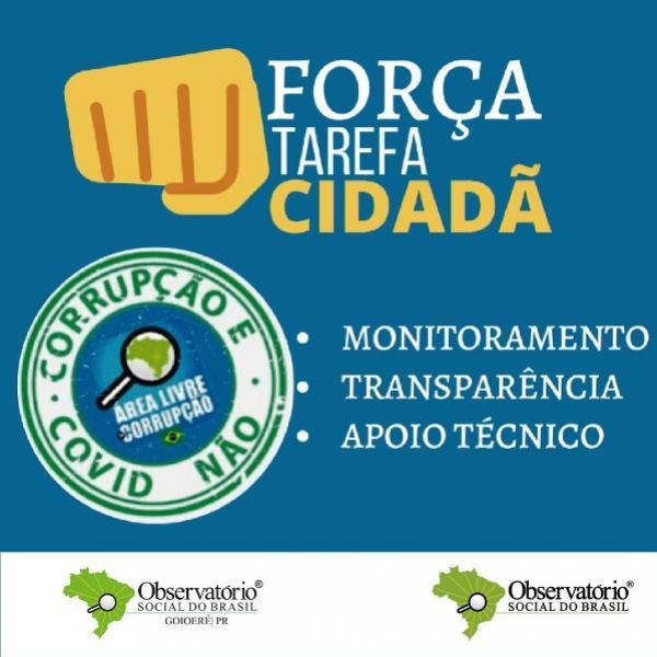 Força tarefa Cidadã: Observatório Social de Goioerê monitora compras emergenciais ao Covid