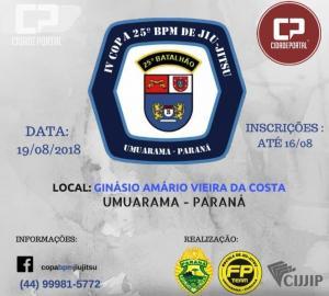 Inscrições para IV copa 25º do Batalhão de Policia Militar de Jiu-Jitsu terminam dia 16, corra faça a sua
