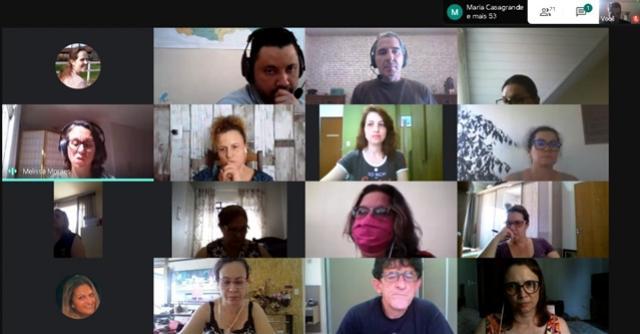 Representantes do NRE de Goioerê participaram da videoconferência sobre o Programa Aprender Valor/Educação Financeira