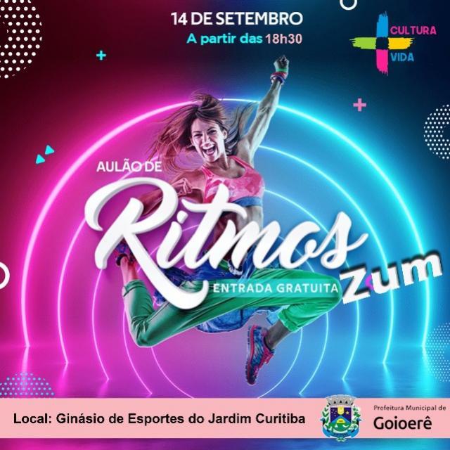 Secretaria de Cultura de Goioerê promove aulas de Ritmo Zum a partir desta terça-feira, 14