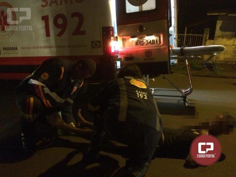 Morador de Goioerê presta socorro a Jovem de 27 anos caído na avenida Tiradentes em Goioerê