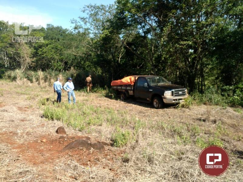 Após denúncia anônima Polícia Militar recupera um uma F-250 roubada na Flor do Oeste