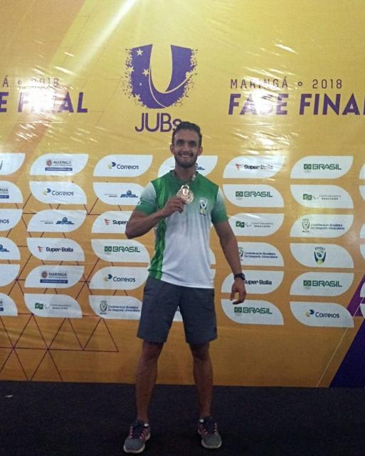Atleta Felipe Pacheco é terceiro colocado nos Jogos Universitários Brasileiros