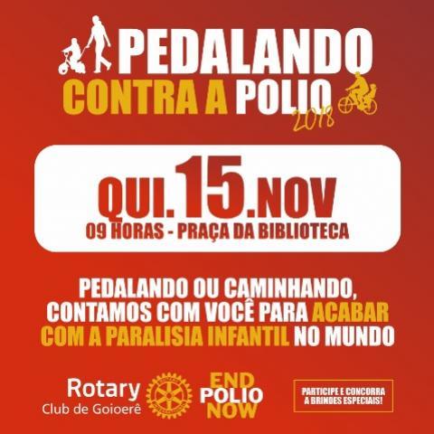 Participe do Pedalando contra a Polio 2018 - 9 horas na praça da Biblioteca