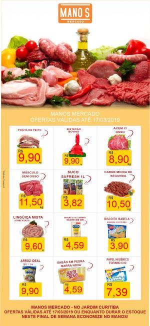 Final de Semana com Economia? vai para o Manos Mercado! - aproveite as ofertas até domingo dia 17