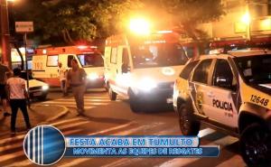 Briga em casa noturna termina com várias pessoas inconscientes devido gás de primenta