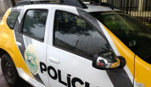 Polícia Militar registrou um acidente entre uma moto e um automóvel, uma pessoa ficou ferida