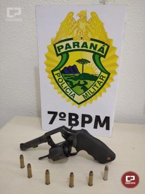 Policiais Militares do 7º BPM apreendem duas armas de fogo em Tuneiras do Oeste