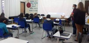 NRE de Goioerê recebeu a visita do Técnico Pedagógico do Programa Mais Aprendizagem