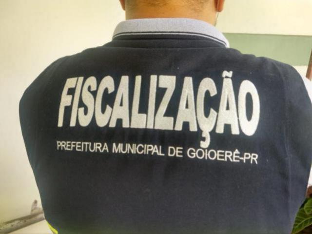 Fiscalização de Goioerê autuou e notificou estabelecimento por descumprimento de decreto
