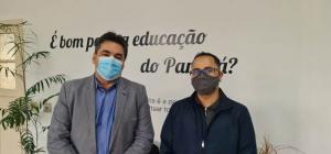 Em Curitiba, Márcio Bonesi agiliza projetos da sede do NRE e do futuro colégio agrícola