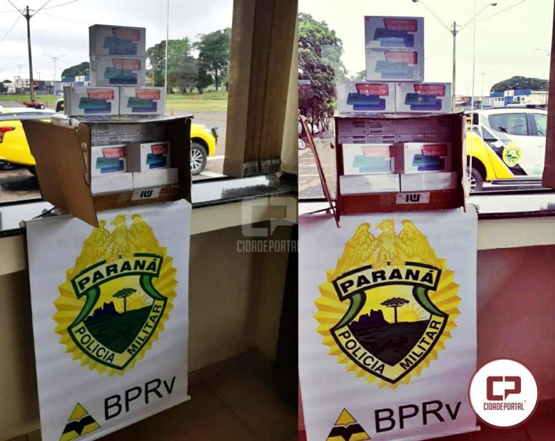 Celulares contrabandeados do Paraguai foram apreendidos pela equipe da PRE de Cianorte