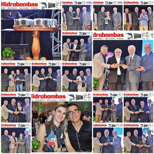Fotos das homenagens do Jubileu de Ouro da Acig e interno das mesas