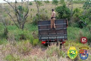 Após perseguição, Policiais Militares apreendem caminhão carregado com cigarros em Cidade Gaúcha