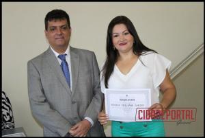 A diplomação dos candidatos eleitos em Rancho Alegre do Oeste, aconteceu na manhã desta quinta-feira, 15 - KESSIA CHILIANE SABINO