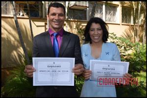 A diplomação dos candidatos eleitos em Rancho Alegre do Oeste, aconteceu na manhã desta quinta-feira, 15 - AMARILDO JOSE DA SILA E SUELY ALVES PEREIRA SILVA