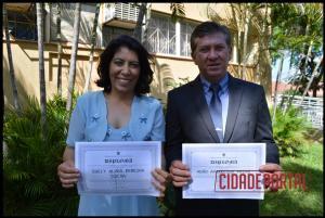 A diplomação dos candidatos eleitos em Rancho Alegre do Oeste, aconteceu na manhã desta quinta-feira, 15 - SUELY ALVES PEREIRA SILVA E ADAO APARECIDO PRIMO