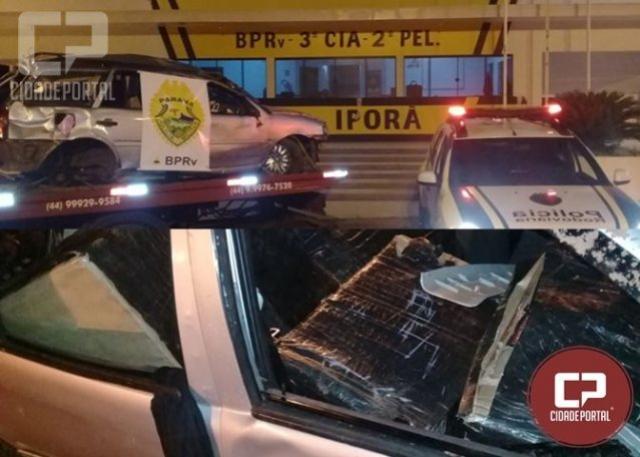 Posto Policial de Iporã apreende veículo com celulares contrabandeados