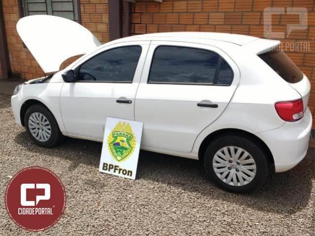 BPFRON recupera no distrito de Iguiporã, veículo furta/roubado no estado de São Paulo