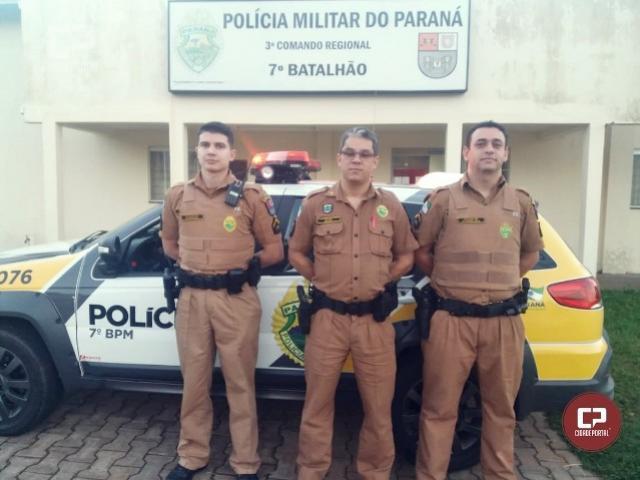 Equipe policial militar do 7º BPM salva bebê de apenas 11 dias, que estava engasgado em Cruzeiro do Oeste