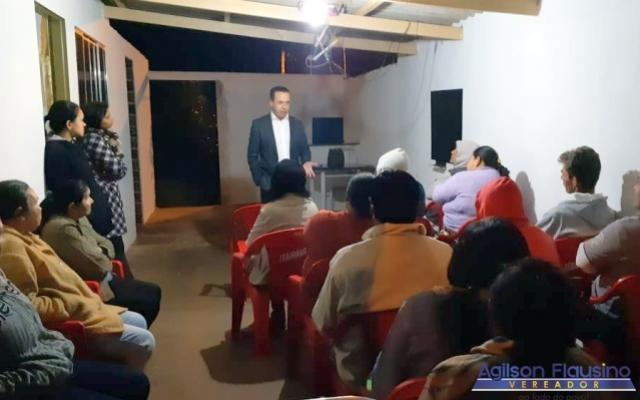 Vereador Agilson se reuni com Moradores do América III para tratar de assuntos da comunidade