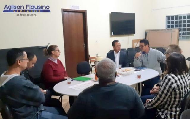 Vereador Agilson visita o Projeto CREER e participa de reunião para tratar do seu desenvolvimento