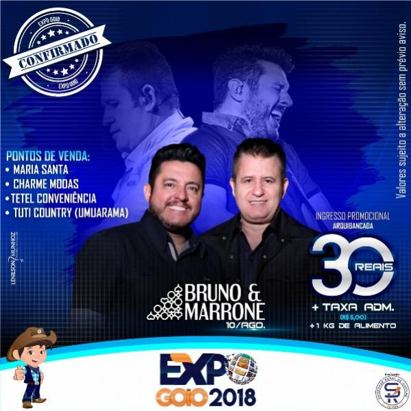 Convites para os shows de Bruno e Marrone e George Henrique e Rodrigo, segue em ritmo acelerado