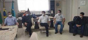 Prefeito se reuniu com vereador e comerciantes para apresentar Projeto de Lei que cria o Selo Susaf em Goioerê