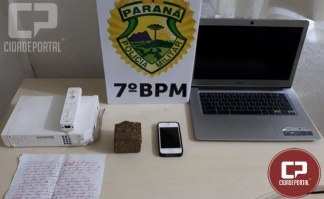 Policiais Militares do 7º BPM encaminham suspeito de tráfico de drogas em Tuneiras D Oeste