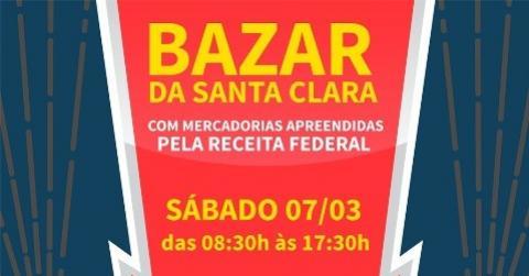O grande Bazar do Centro Educacional Santa Clara é hoje 07 de Março