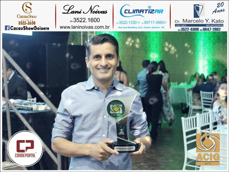 Caju Auto Elétrica recebeu o Prêmio ACIG - Melhores do Ano de 2017