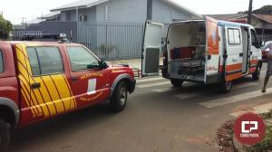 Acidente deixa motociclista com ferimentos no cruzamento da Marinho Tavares com Carlos Gomes
