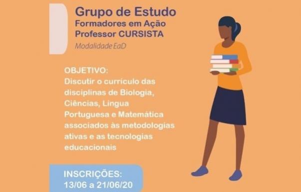 Abertas as inscrições para Professor Cursista - Grupo de Estudos Formadores em Ação