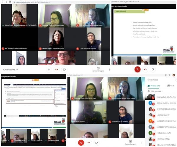 Live ministrou oficina para socializar o uso da ferramenta Google Docs com a produção textual