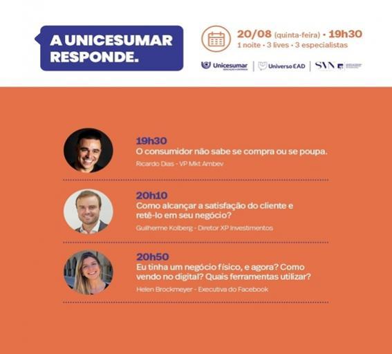 """Participe do Evento On-line """"A UNICESUMAR RESPONDE"""" e conheça seu futuro"""