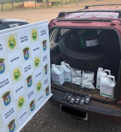 Batalhão de Polícia de Fronteira apreende produtos contrabandeados na Cidade de Pato Bragado - PR
