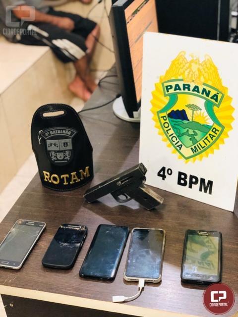 Polícia Militar prende indivíduo por roubo com uso de arma de fogo em Maringá