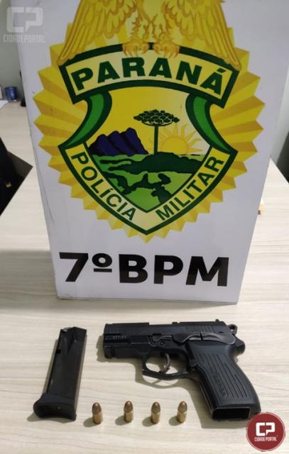 7º BPM apreende arma de fogo em Tapejara