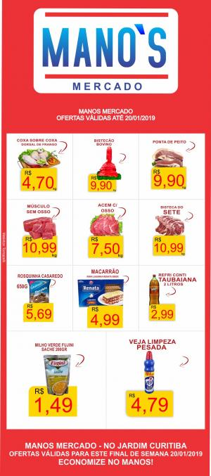 Final de Semana com Economia? vai para o Manos Mercado! - aproveite as ofertas até domingo dia 20
