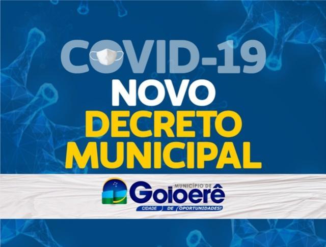 Prefeitura de Goioerê publica Novo Decreto de enfrentamento ao covid-19
