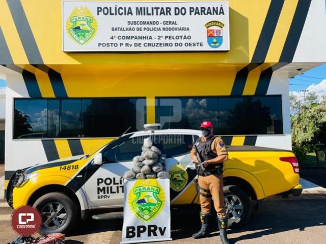 PRE de Cruzeiro do Oeste apreende mais de 10 kg de maconha em ônibus de linha