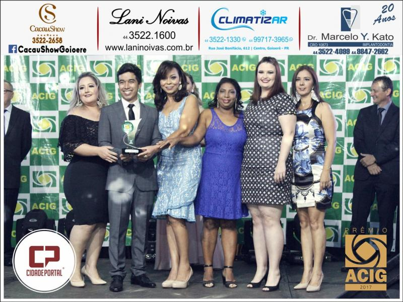 Dgustar Doceria recebeu o Prêmio ACIG - Melhores do Ano de 2017