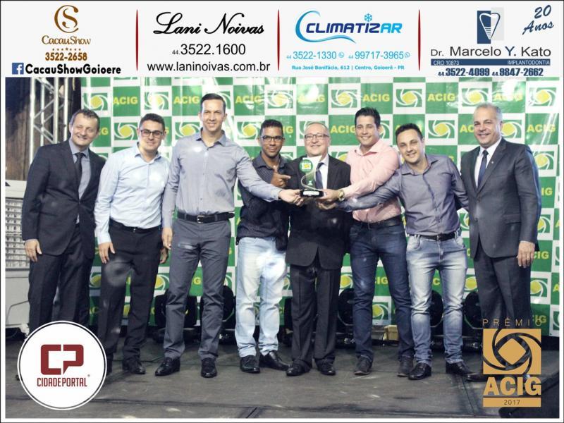 Zacarias Veículos recebeu o Prêmio ACIG - Melhores do Ano de 2017