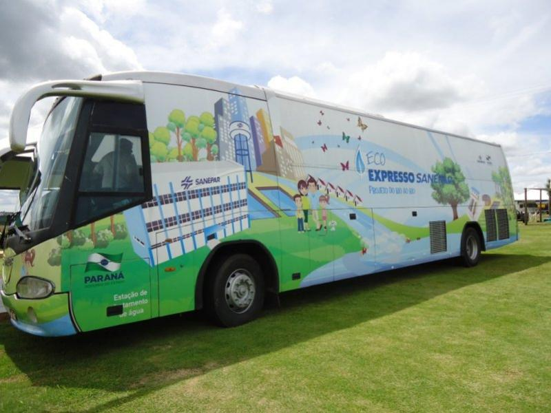 Ônibus Itinerante ECO-EXPRESSO-SANEPAR estará em Rancho Alegre D'Oeste
