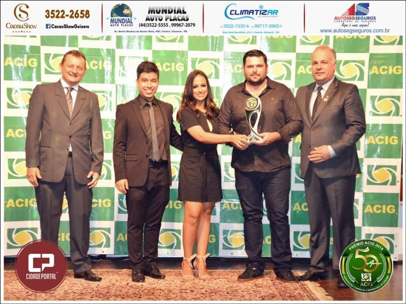 Disk Chopp Fabão recebe prêmio Acig Melhores do Ano 2018