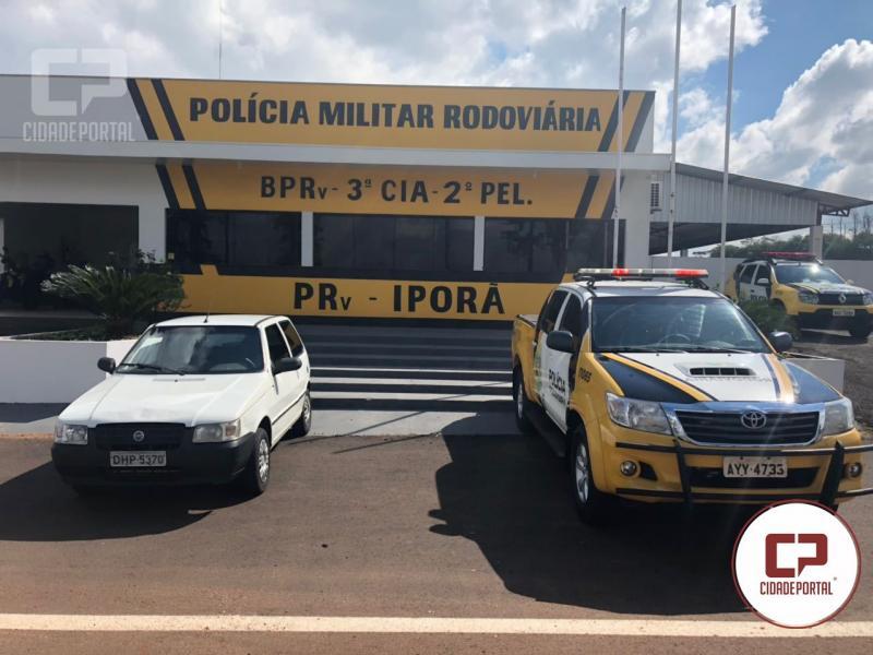 Posto Policial de Iporã apreende veículo com produtos contrabandeados do Paraguai