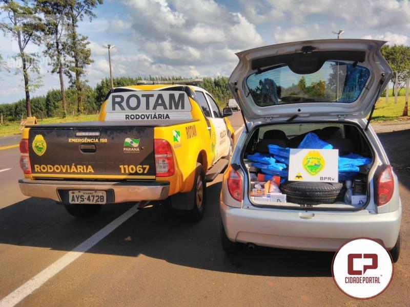 45da2d31771 Rotam da 3ª Cia do BPRv Cascavel apreende veículo carregado com produtos do  Paraguai