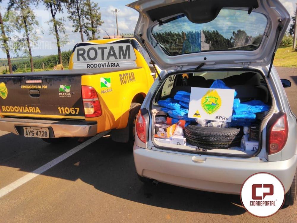 71b4330de0a Rotam da 3ª Cia do BPRv Cascavel apreende veículo carregado com produtos do  Paraguai