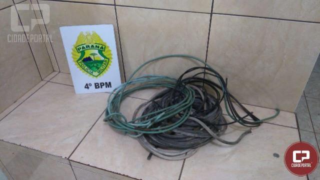 Polícia Militar prende indivíduo por furto de fios em Maringá